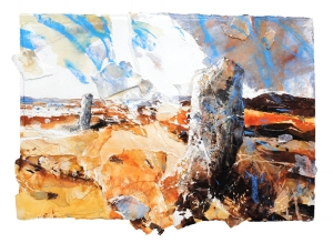 xDavid Tress, 'Gors Fawr (Pembrokeshire)', mixed media on paper, 66x81cm, 2015