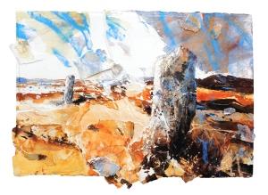 xDavid Tress, 'Gors Fawr (Pembrokeshire)', mixed media on paper, 66x81cm, 2015